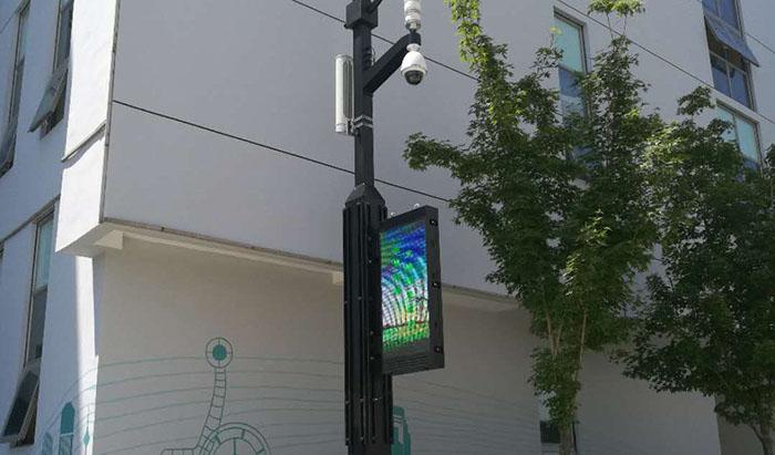 智慧城市灯杆屏