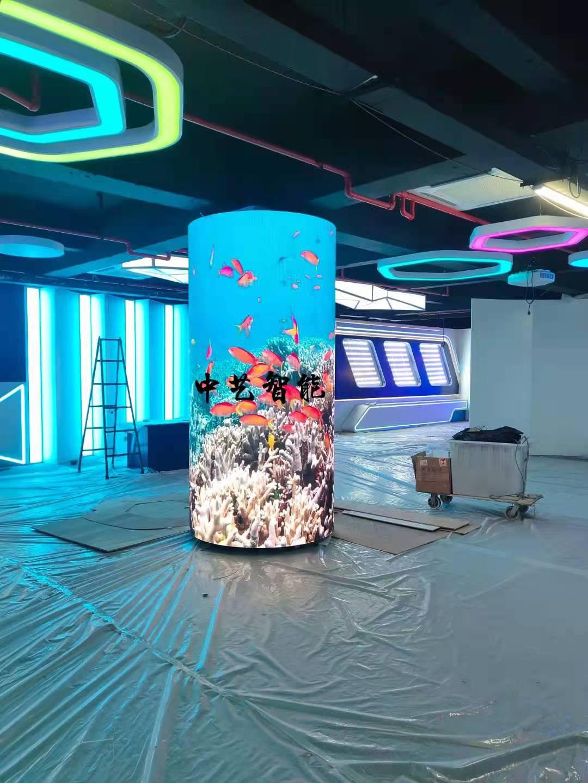 宁波展览馆P2.5软模组圆柱屏