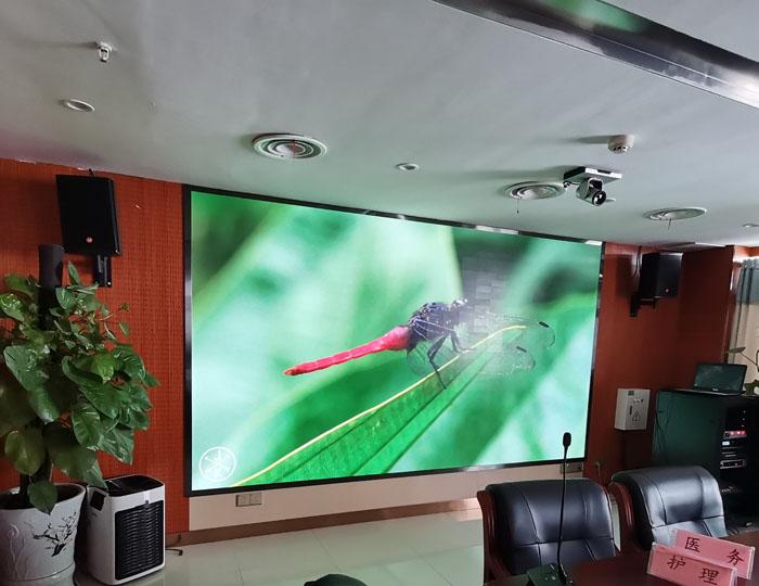 江苏邳州中心医院五楼远程会诊项目P1.25 COB小间距屏